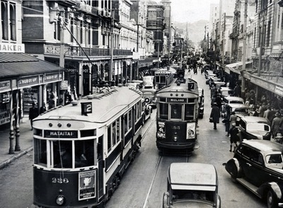 Trams on Willis St