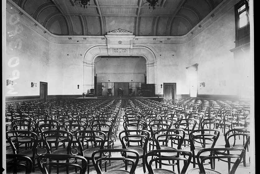 Interior of Town Hall Concert Chamber
