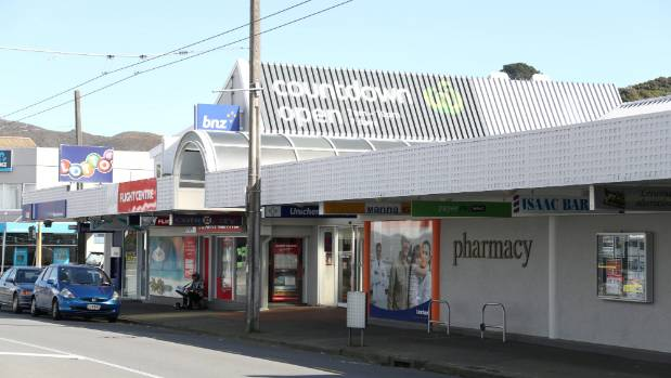 A view of Karori Mall from the street