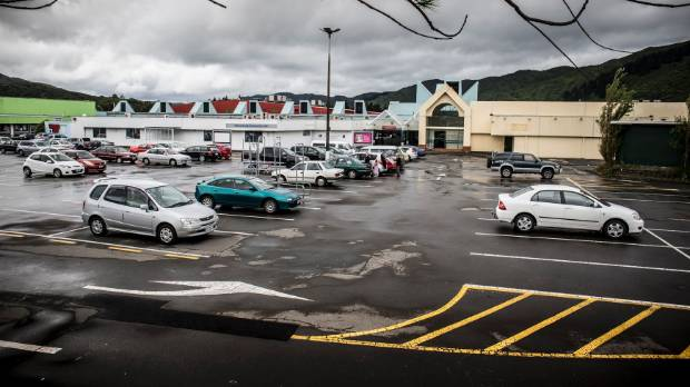 A view of Wainui Mall and car park