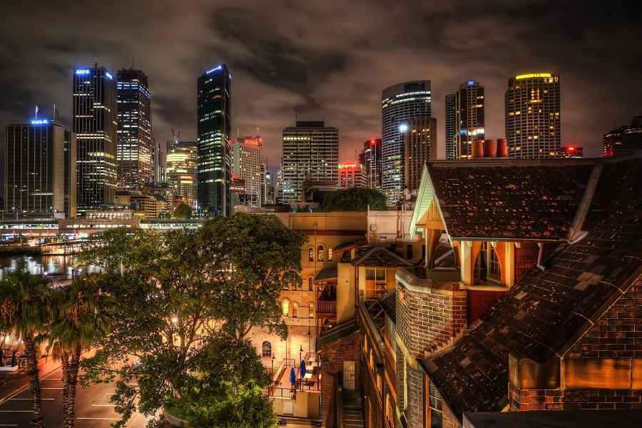 Australian cityscape at night